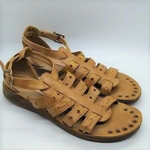 2 Lips Too Brown Gladiator Strap Sandals